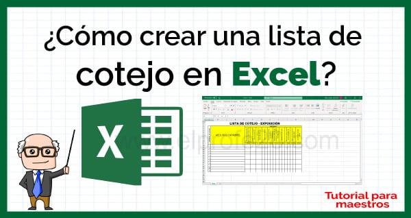 como_crear_lista_de_cotejo_en_excel