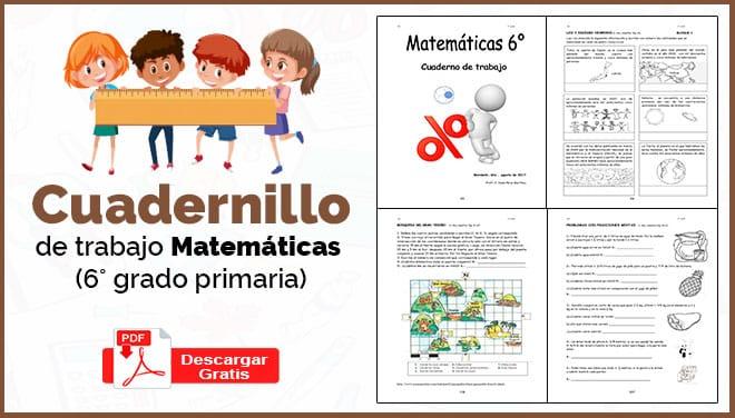 Cuadernillo De Trabajo Matemática 6 Grado Primaria